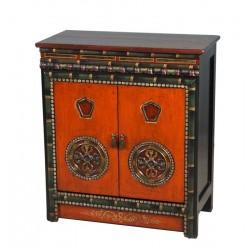 Meuble d'appoint tibétain 80x40x90 cm
