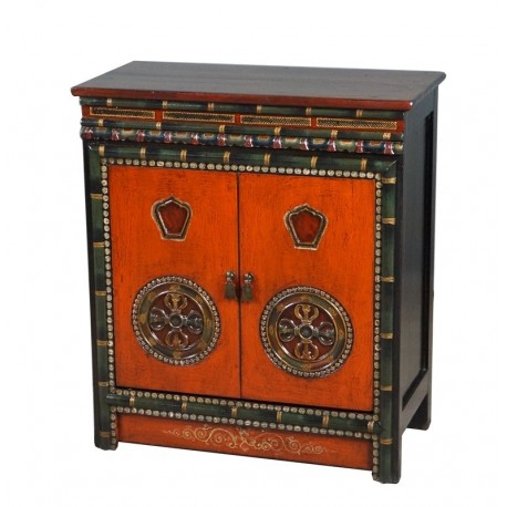 Meuble d'appoint tibétain 80x40x89 cm