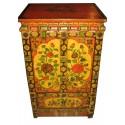 Meuble d'appoint tibétain Shigatsé 53x43x86