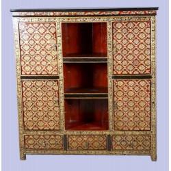 Meuble d'angle tibétain 45x45x75