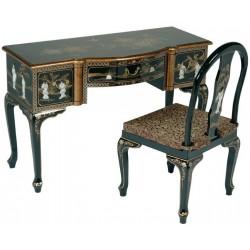 Bureau chinois et sa chaise 120x50x78