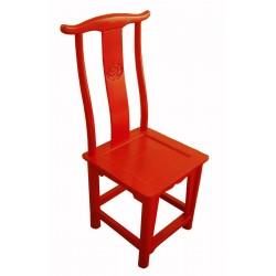 Chaise chinoise en bonnet de lettré 48x42x107