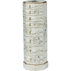 Semainier chinois blanc 36x36x102