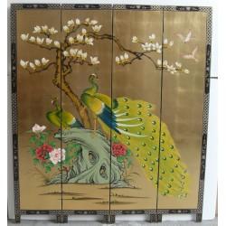 Paravent chinois 165x183x4 panneaux