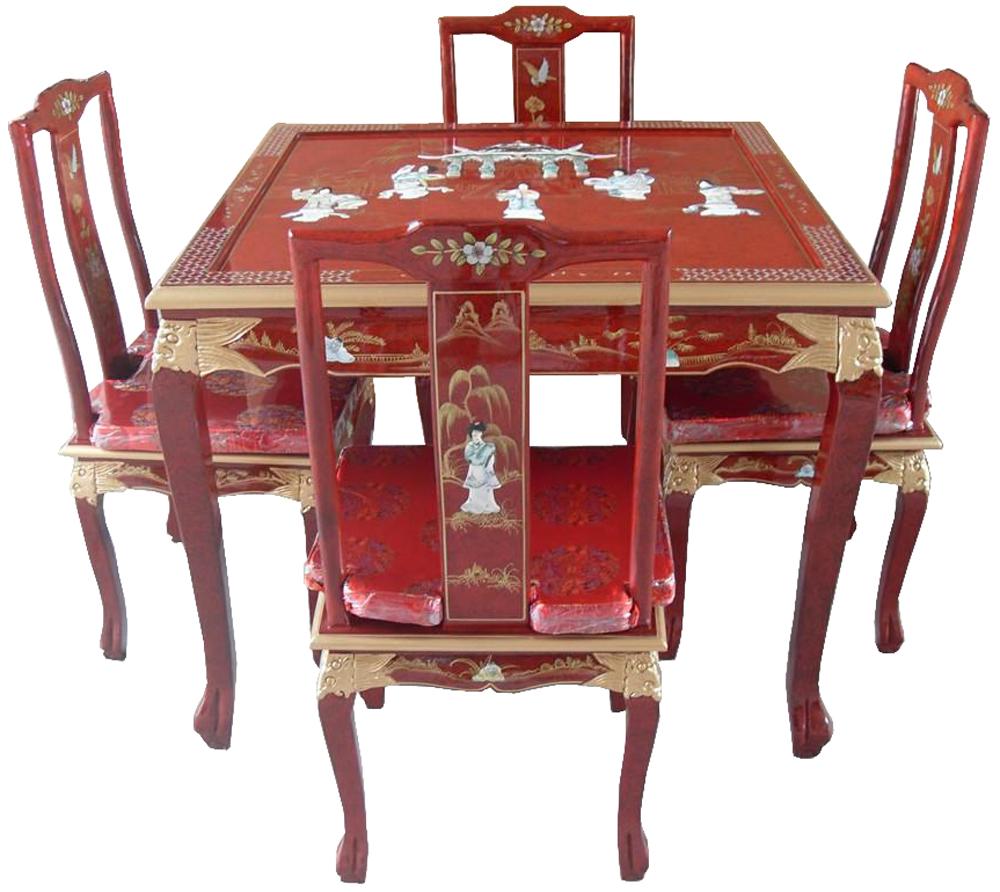 Table de salle manger laqu e chinoise for Chaise de salle a manger hemisphere sud